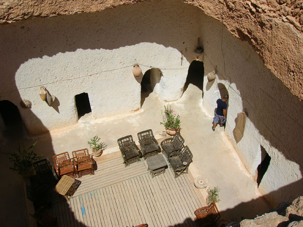 troglodyte caves in Gharyan